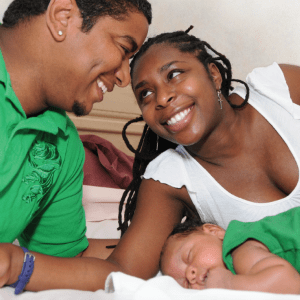 happy family at a CABC-accredited birth center